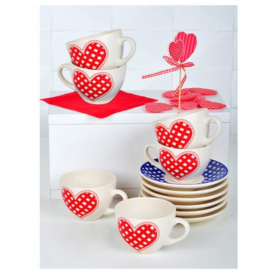 Keramika Takım Cay Kera 12 Parca Mat 021 Potıkare Çay Seti
