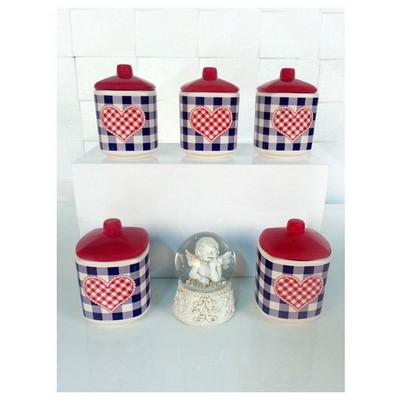Keramika Takım Baharat Kosem 8 Cm 10 Parca Mat 021-975 Potıkare A Baharatlık