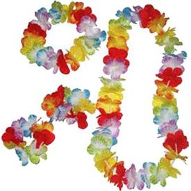 Parti Paketi Hawaii Boyun Süsü, Taç, Bileklik Boyun Süsü / Kuşak