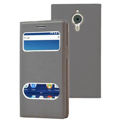 Microsonic General Mobile Gm5 Plus Kılıf Gizli Mıknatıslı Dual View Delux Siyah Cep Telefonu Kılıfı