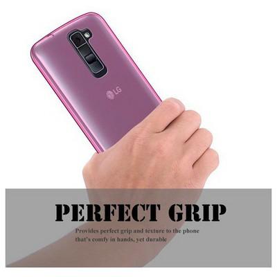 Microsonic Lg K8 Kılıf Transparent Soft Pembe Cep Telefonu Kılıfı