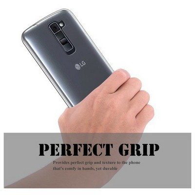 Microsonic Lg K8 Kılıf Transparent Soft Siyah Cep Telefonu Kılıfı