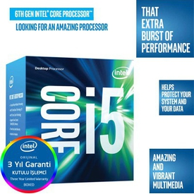 Intel Core i5-6500, up to 3.60 GHz, LGA1151, İşlemci (3 Yıl Garantili)
