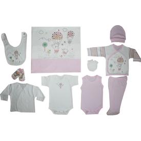 Bebitof 789 Flying Bears 10 Lu Bebek Zıbın Seti Pembe 0-3 Ay (56-62 Cm) Kız Bebek Hastane Çıkışı