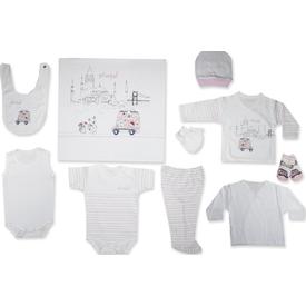Bebitof Bbtf-773 Istanbul 10 Lu Bebek Zıbın Seti Pembe Erkek Bebek Hastane Çıkışı