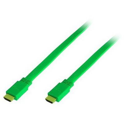 Frisby Fa-7415g Hdmı 3dfull Hd 1080 24k Gold Flat 5 Mt Hdmı Kablo (yeşil) HDMI Kablolar