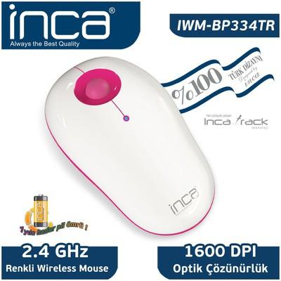 Inca Iwm-bp334tr Inca %100 Türk Dizayn Iwm-bp334tr Inca -track 1600 Dpi Wireless Nano A Mouse