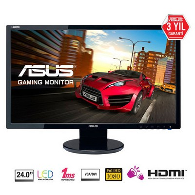 Asus 24.0 VE248HR 1920x1080 1ms 3YIL DSUB DVI HDMI Gaming Monitör