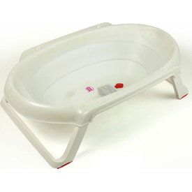 Ok Baby Onda 3895 Slim Katlanır Bebek Kuveti Beyaz Bebek Küveti