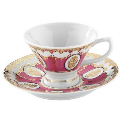 Arte Bianco Kütahya Porselen Alice Kahve Takımı Pembe Çay Seti