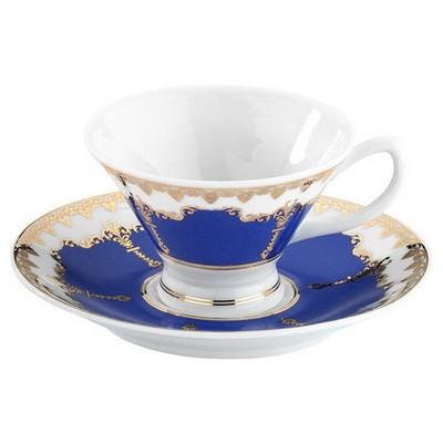 Arte Bianco Kütahya Porselen Alice Kahve Takımı Lacivert Çay Seti