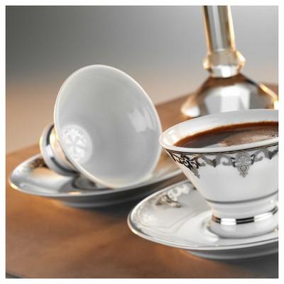 Arte Bianco Kütahya Porselen Alice Kahve Takımı Çay Seti
