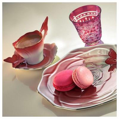 Arte Bianco Belce Bordo El Yapımı Tek Kişilik Kahve Ikram Seti Çay Seti