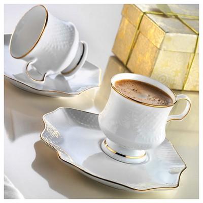 Arte Bianco Defne Kahve Fincan Takımı