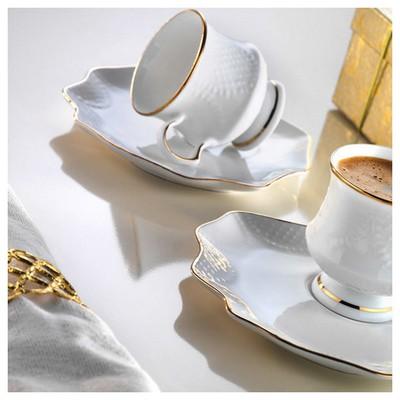 Arte Bianco Defne Kahve Fincan Takımı Çay Seti