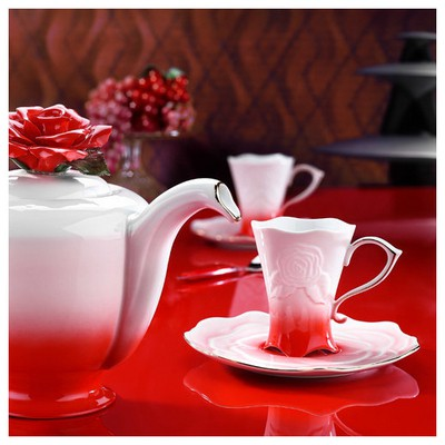 Arte Bianco Gül Çay Takımı Çay Seti