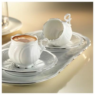 Arte Bianco Kütahya Porselen Kation Kahve Fincan Takımı Çay Seti