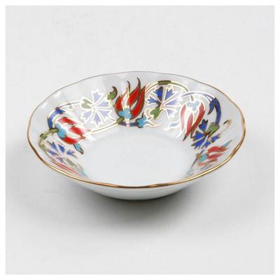 Kütahya Porselen Acem El Yapımı Çay Tabağı 460 Desen Çay Seti