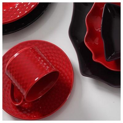 Kütahya Porselen Naturaceram Deniz Çay Takımı Kırmızı Çay Seti