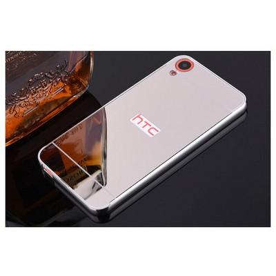 Microsonic Htc Desire 820 Kılıf Luxury Mirror Gümüş Cep Telefonu Kılıfı