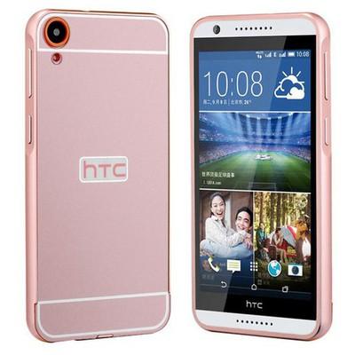 Microsonic Htc Desire 820 Kılıf Luxury Mirror Rose Gold Cep Telefonu Kılıfı