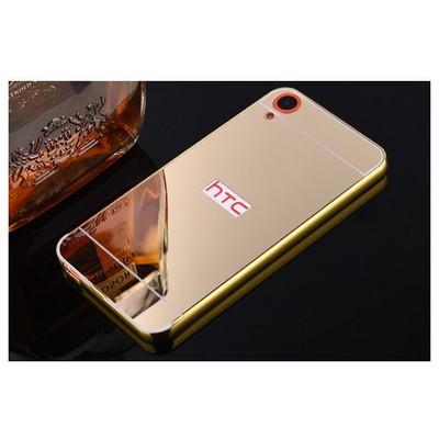 Microsonic Htc Desire 820 Kılıf Luxury Mirror Gold Cep Telefonu Kılıfı