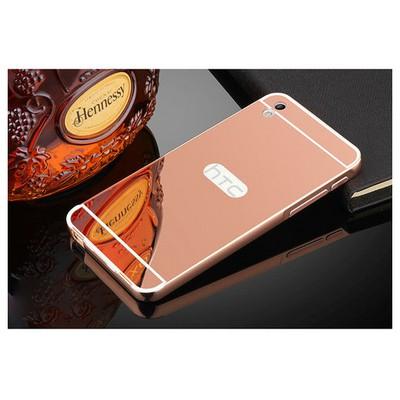 Microsonic Htc Desire 816 Kılıf Luxury Mirror Rose Gold Cep Telefonu Kılıfı