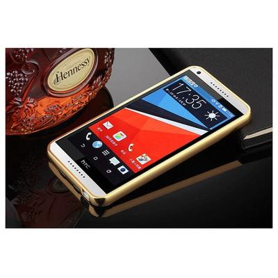 Microsonic Htc Desire 816 Kılıf Luxury Mirror Gold Cep Telefonu Kılıfı