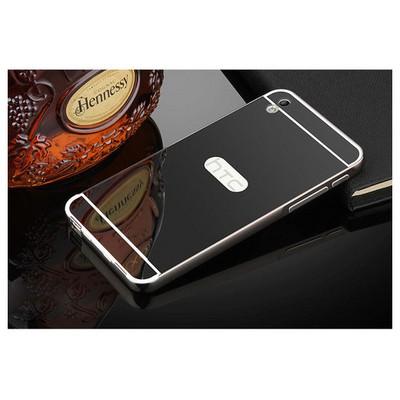 Microsonic Htc Desire 816 Kılıf Luxury Mirror Siyah Cep Telefonu Kılıfı