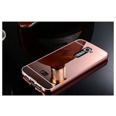 Microsonic Lg G2 Kılıf Luxury Mirror Rose Gold Cep Telefonu Kılıfı