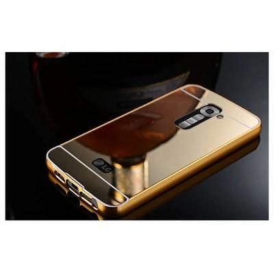 Microsonic Lg G2 Kılıf Luxury Mirror Gold Cep Telefonu Kılıfı