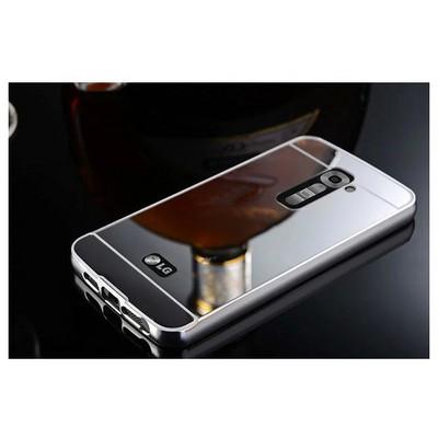 Microsonic Lg G2 Kılıf Luxury Mirror Gümüş Cep Telefonu Kılıfı