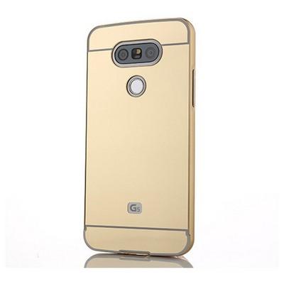 Microsonic Lg G5 Kılıf Luxury Mirror Gold Cep Telefonu Kılıfı