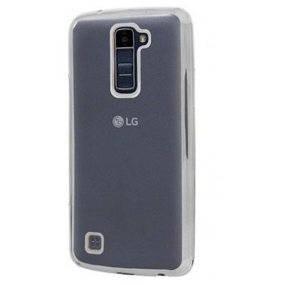 Microsonic Lg K10 Kılıf Flexi Delux Gümüş Cep Telefonu Kılıfı