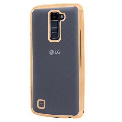 Microsonic Lg K10 Kılıf Flexi Delux Gold Cep Telefonu Kılıfı
