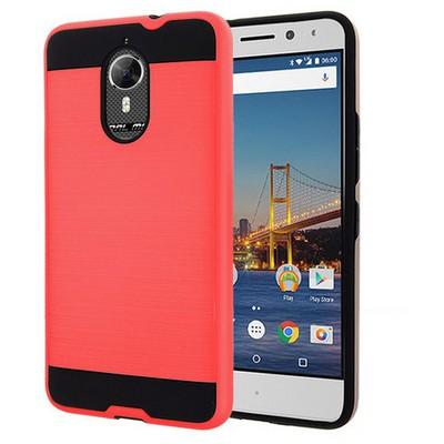 Microsonic General Mobile Gm5 Plus Kılıf Slim Heavy Duty Kırmızı Cep Telefonu Kılıfı