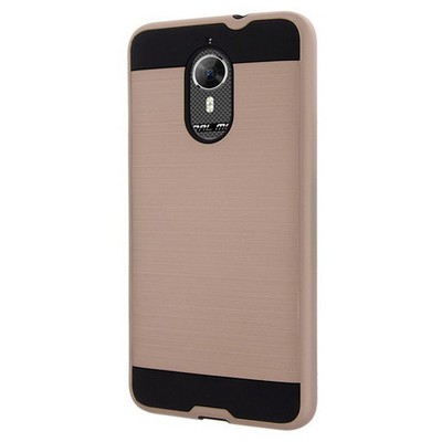Microsonic General Mobile Gm5 Plus Kılıf Slim Heavy Duty Gold Cep Telefonu Kılıfı