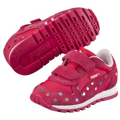 Puma 37192 St Runner Dotfetti V Kids Red-rose 359826-02