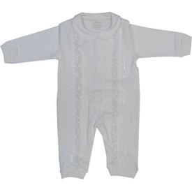 Aziz Bebe 6365 Kız Bebek Tulum Ekru 6-9 Ay (68-74 Cm) Bebek Tulumu