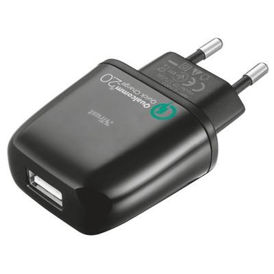 Trust Urban 21063 Ultra Hızlı Qualcomm Çipli Telefon Ve Tabletler Için Duvar Tipi Sarj Cihazı Şarj Cihazları