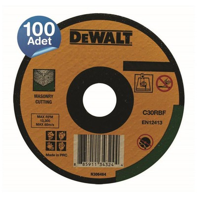 Dewalt Dwa4521cfa 100 Adet 115x2,5mm Metal Taşlama Diski Bombeli Makine Aksesuarı