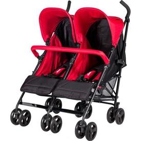 Prego 2074 Monart Baston Ikiz Bebek Arabası Kırmızı İkiz Bebek Arabası