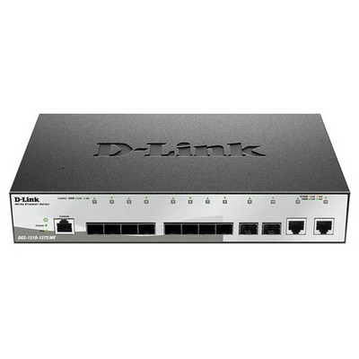 D-link Dgs-1210-12ts/me 10 Port 1000base Sfp + 2 Port 10/100/1000base Yonetılebılır Gıgabıt Swıtch Switch