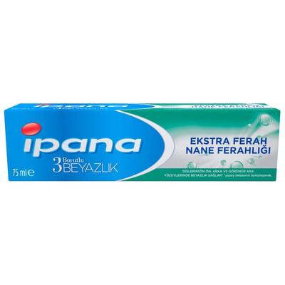 Ipana 3 Boyutlu Beyazlık Ekstra Ferah Nane Ferahlığı 75 ml Diş Macunu