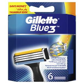 Gillette Blue3 Yedek Tıraş Bıçağı 6'lı Erkek Tıraş Bıçağı