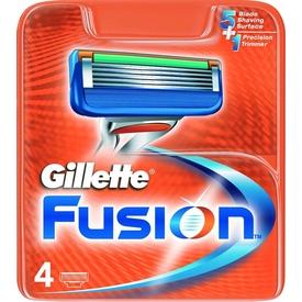Gillette Fusion Yedek Tıraş Bıçağı 4'lü Erkek Tıraş Bıçağı