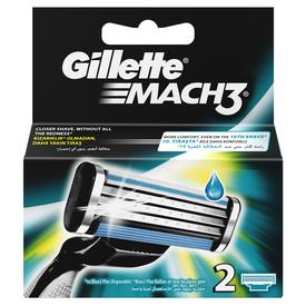 Gillette Mach3 Yedek Tıraş Bıçağı 2'li Erkek Tıraş Bıçağı