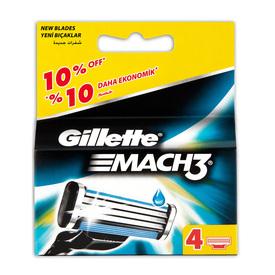 Gillette Mach3 Yedek Tıraş Bıçağı 4'lü Erkek Tıraş Bıçağı