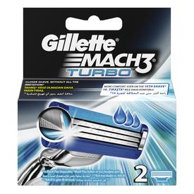 Gillette Mach3 Turbo Yedek Tıraş Bıçağı 2'li Erkek Tıraş Bıçağı
