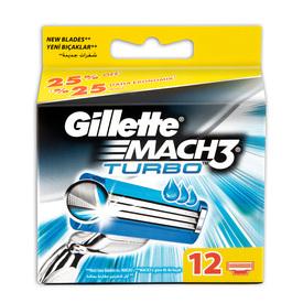 Gillette Mach 3 Turbo Yedek Tıraş Bıçağı 12'li Erkek Tıraş Bıçağı